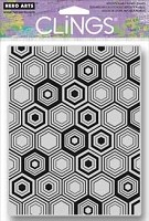 Hero Arts - Cling Rubber Stamp - Hexagon Background