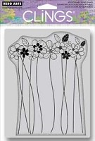 Hero Arts - Cling Rubber Stamp - Tall Flowers