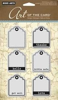 Hero Arts - Art of the Card - Cling Rubber Stamp - Little Tags