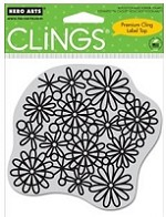 Hero Arts - Cling Mounted Rubber Stamp - Flower Cutouts