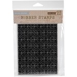 Hero Arts - Cling Rubber Stamp - Basic Grey Tiny Snowflake Grid