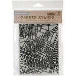 Hero Arts - Cling Rubber Stamp - Basic Grey City Map
