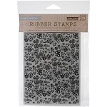 Hero Arts - Cling Rubber Stamp - Basic Grey Floral Background