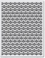 Hero Arts - Cling Rubber Stamp - Basic Grey Deco Flower Background