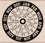 Hero Arts - Wood Mounted Rubber Stamp - Calendar