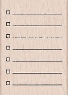 Hero Arts - Wood Mounted Rubber Stamp - My Checklist