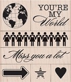 Hero Arts - Wood Mounted Rubber Stamp - You're My World