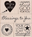 Hero Arts - Wood Mounted Rubber Stamp - Blessing To You
