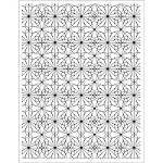 Hero Arts - Cling Stamp - Garden Tile Pattern Background