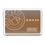 Hero Arts - Ombre Dye Ink Pad - Sand to Chocolate Brown Ombre