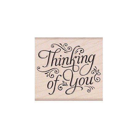 Hero Arts - Wood Mounted Rubber Stamp - Fancy Thinking of You