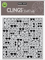 Hero Arts - Cling Rubber Stamp - Glasses Bold Prints