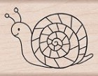 Hero Arts-Wood Mounted Rubber Stamp-Friendly Snail