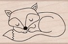 Hero Arts-Wood Mounted Rubber Stamp-Sleeping Fox