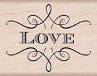 Hero Arts - Wood Mounted Rubber Stamp - Love
