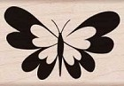Hero Arts - Wood Mounted Rubber Stamp - Heart Butterfly