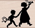Hero Arts - Wood Mounted Rubber Stamp - Musical Walk