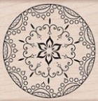Hero Arts-Wood Mounted Rubber Stamp-Star Ornament
