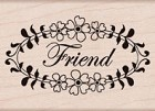 Hero Arts - Wood Mounted Rubber Stamp - Friend