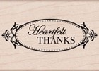 Hero Arts - Wood Mounted Rubber Stamp - Heartfelt Thanks