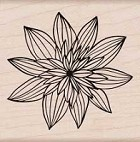 Hero Arts - Wood Mounted Rubber Stamp - Night Flower