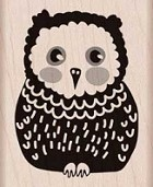 Hero Arts - Wood Mounted Rubber Stamp - Baby Owl