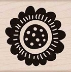 Hero Arts - Wood Mounted Rubber Stamp - Scalloped Flower
