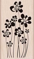 Hero Arts - Wood Mounted Rubber Stamp - Jumping Flowers