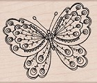 Hero Arts - Wood Mounted Rubber Stamp - Artists Butterfly