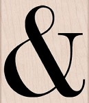 Hero Arts - Wood Mounted Rubber Stamp - Ampersand