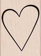 Hero Arts - Wood Mounted Rubber Stamp - Classic Heart