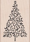 Hero Arts-Wood Mounted Rubber Stamp-Branch & Flourish