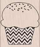Hero Arts - Wood Mounted Rubber Stamp - Zig Zag Cupcake