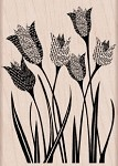Hero Arts - Wood Mounted Rubber Stamp - Newspaper Tulips