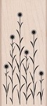 Hero Arts - Wood Mounted Rubber Stamp - Tall Circle Flowers