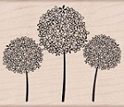 Hero Arts - Wood Mounted Rubber Stamp - Three Flower Balls