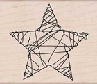 Hero Arts - Wood Mounted Rubber Stamp - Wire Star