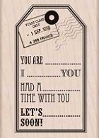Hero Arts - Wood Mounted Rubber Stamp - You Are Tag