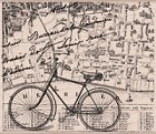 Hero Arts - Wood Mounted Rubber Stamp - Bicycle Collage