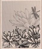 Hero Arts - Wood Mounted Rubber Stamp - Flowers and Stripes
