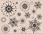 Hero Arts-Wood Mounted Rubber Stamp-Stunning Snowflakes