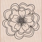 Hero Arts - Wood Mounted Rubber Stamp - Ruffled Flower