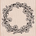 Hero Arts - Wood Mounted Rubber Stamp - Flower Wreath
