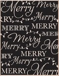 Hero Arts-Wood Mounted Rubber Stamp-Merry Background
