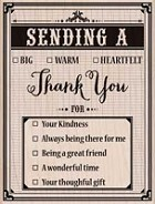 Hero Arts - Wood Mounted Rubber Stamp - Sending A Thank You