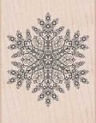 Hero Arts - Wood Mounted Rubber Stamp - Dazzling Snowflake