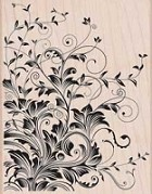 Hero Arts - Wood Mounted Rubber Stamp - Leafy Vines