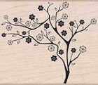 Hero Arts-Wood Mounted Rubber Stamp-Slanted Tree