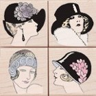 Hero Arts-Wood Mounted Rubber Stamp-Fancy Hats