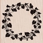 Hero Arts-Wood Mounted Rubber Stamp-Ivy Wreath